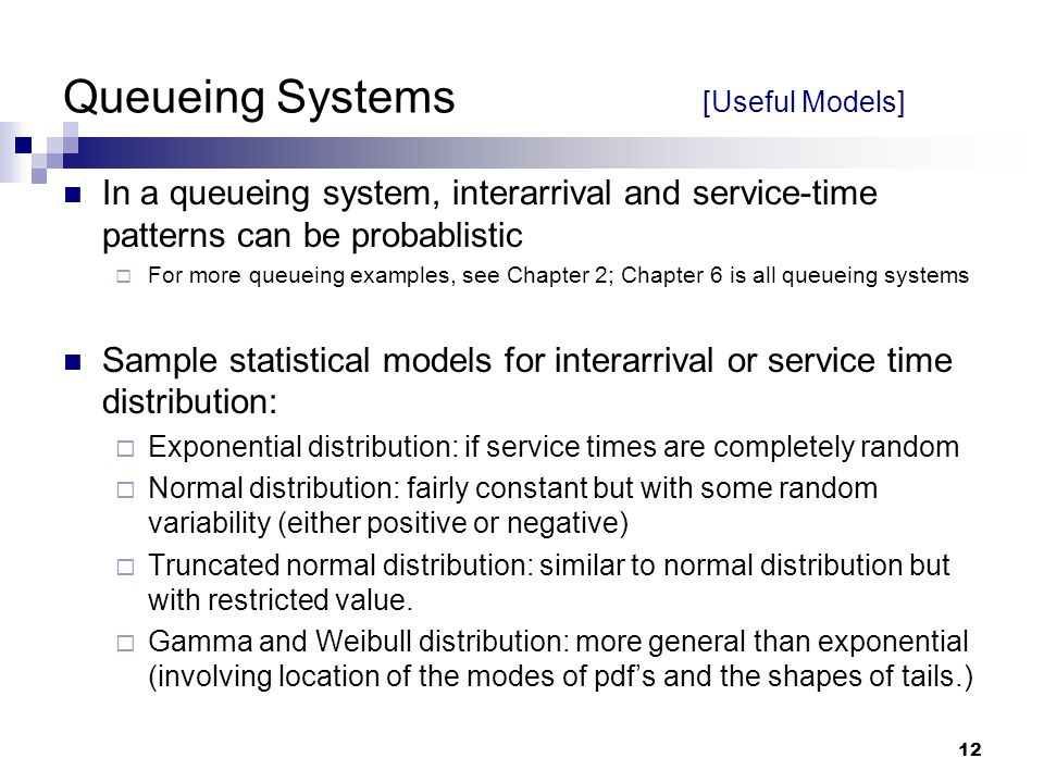 Queueing Systems [Useful Models]